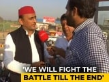 Video : 'Will Fight Till The End': Akhilesh Yadav To Farmers