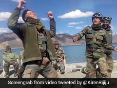 Watch: Jawans Dance At Pangong Lake, Minister Shares Heart-Warming Video
