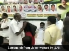 High Drama At Puducherry Congress Meet After Party Leader Waves DMK Flag