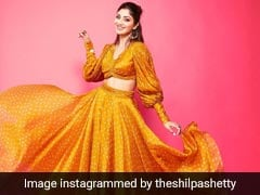 Shilpa Shetty Is Her Own Ray Of Sunshine In A Bright Yellow Co-Ord Set