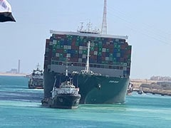 """She's Free"": Giant Ship Stuck In Suez Canal Afloat, Traffic Resumes"