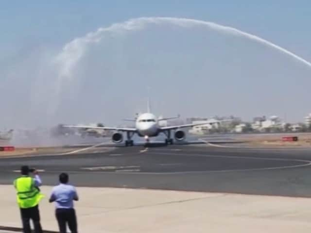 Video : Why An IndiGo Flight Was Given 'Water Salute'