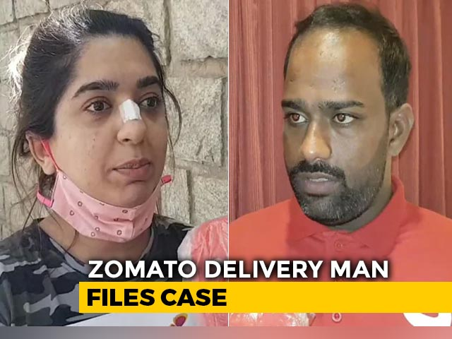 Video : Zomato Delivery Man Files Case Against Bengaluru Woman Over Assault Row