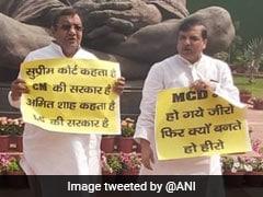 AAP MPs Protest National Capital Territory Of Delhi Bill In Parliament