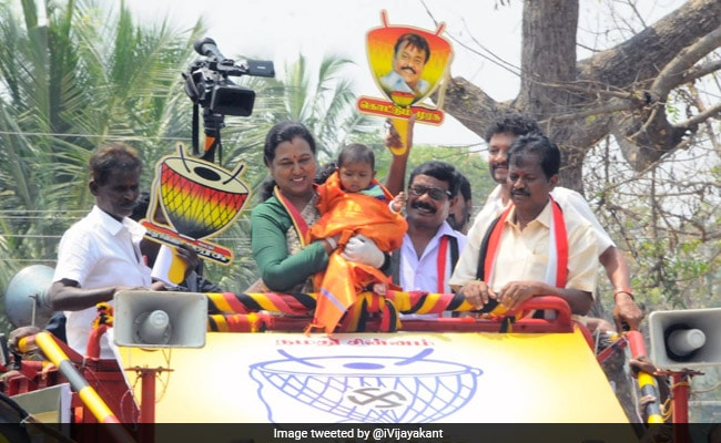 Actor Vijayakanth's Wife Skips Covid Test, Heads Out For Poll Campaign