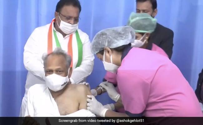 Ashok Gehlot Receives First Dose Of Coronavirus Vaccine