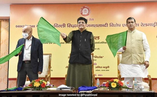 Piyush Goyal Flags Off Siddhabali Jan Shatabdi Express Special Train