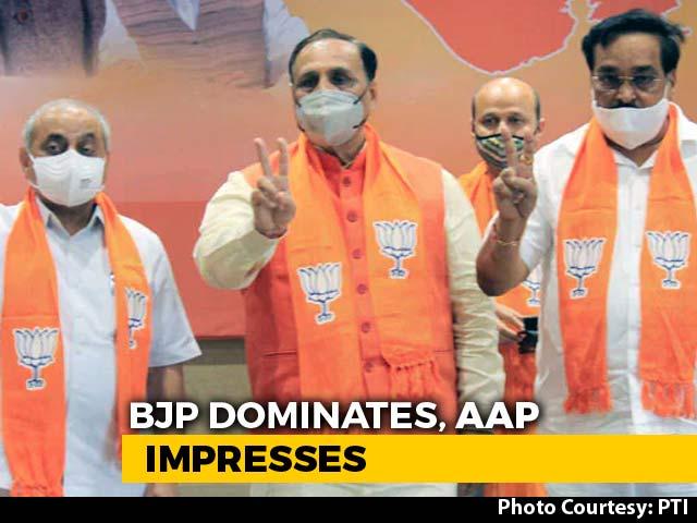 Video : BJP Dominates, AAP Impresses Again In Local Gujarat Polls