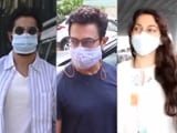 Video : Spotted: Aamir Khan, Juhi Chawla And Varun Dhawan