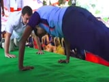 "Video : Rahul Gandhi Takes Up ""Push-Ups"" Challenge In Tamil Nadu. Watch"