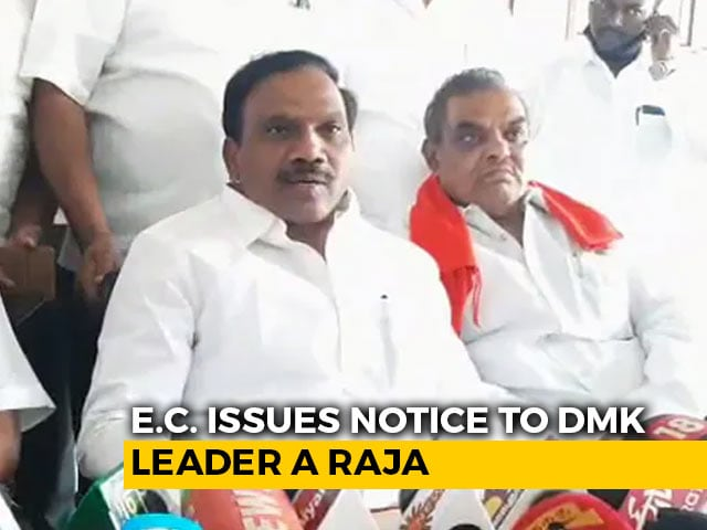 Video : DMK's A Raja Gets Poll Body Notice Over Tamil Nadu Chief Minister Remarks