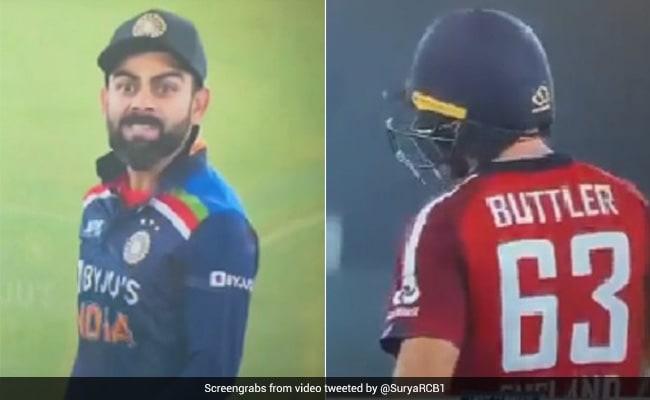 IND vs ENG: आउट होने के बाद जोस बटलर कप्तान कोहली से उलझे, पवेलियन जाते वक्त हुई जोरदार बहस..देखें Video