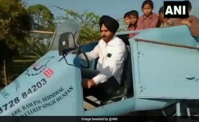 Architect Builds Jet-Shaped Vehicle, Names It 'Punjab Rafale': Video