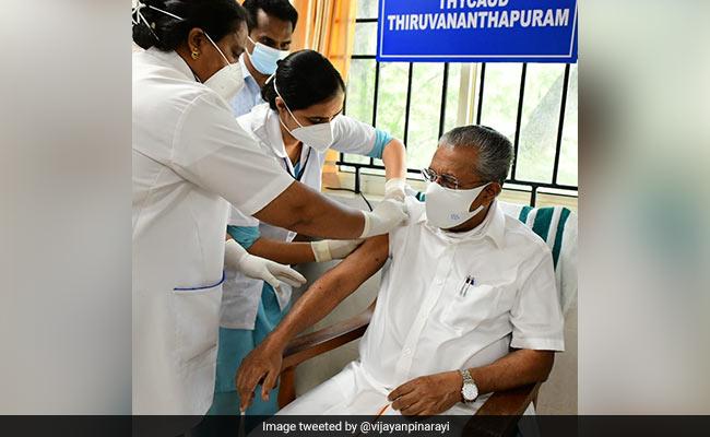 Kerala Chief Minister Pinarayi Vijayan Receives First Dose Of COVID-19 Vaccine