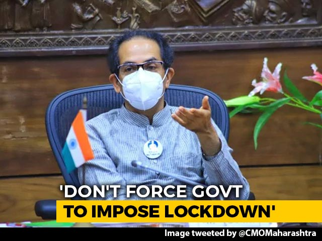 """Video : """"Don't Force To Impose Lockdown"""": Uddhav Thackeray To Hotels, Restaurants"""