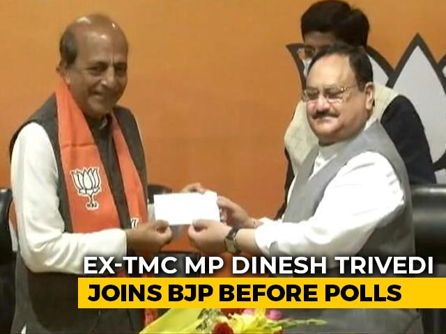 Video : Dinesh Trivedi, Ex-Trinamool Congress MP, Joins BJP Ahead Of Bengal Polls