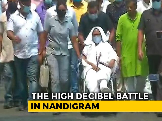Video : On Wheelchair, Mamata Banerjee Campaigns In High-Stakes Nandigram On Holi