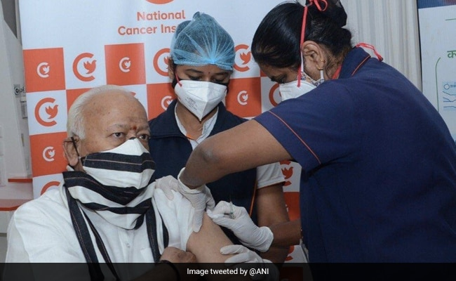 RSS Chief Mohan Bhagwat Receives First Dose Of Covid-19 Vaccine