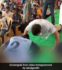 Rahul Gandhi Takes Up 'Push-Ups' Challenge In Tamil Nadu. Watch