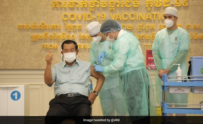 Cambodian PM, First Lady Receive Shot Of Made-In-India Covid Vaccine