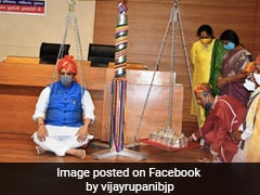 Gujarat Chief Minister Weighed Against 85 Kgs Of Silver At Event