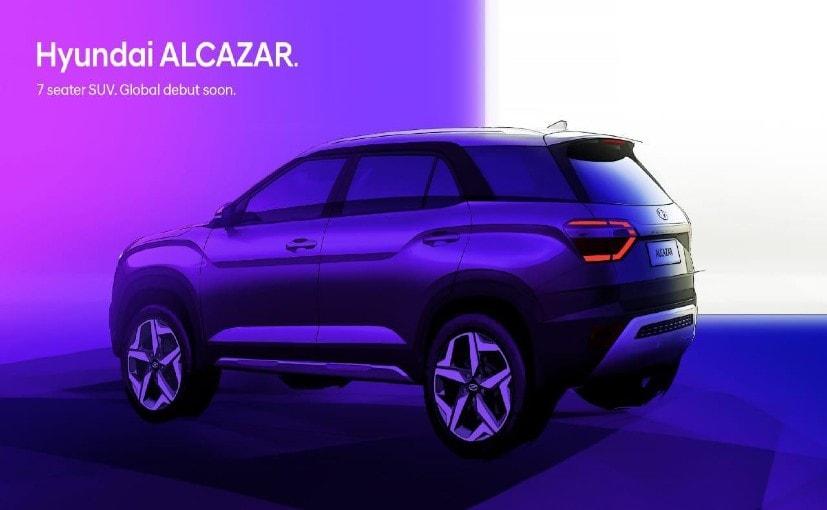 The Hyundai Alcazar  is the three-row derivative of the Hyundai Creta.