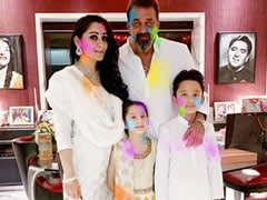 "Holi 2021: From Sanjay Dutt's ""Celebrations At Home"" With Wife Maanayata And Twins Iqra, Shahraan"