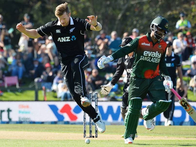 New Zealand vs Bangladesh: Jimmy Neesham Runs Out Tamim Iqbal With Some Fancy Footwork. Watch