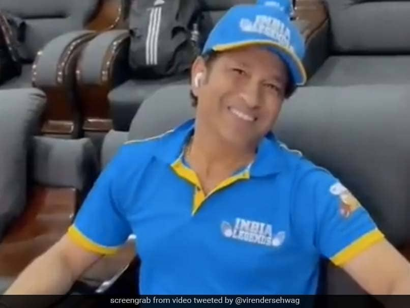 Watch: Virender Sehwag Gives Fans A Sneak Peek Into Sachin Tendulkars Recovery Ahead Of Next Road Safety World Series Game