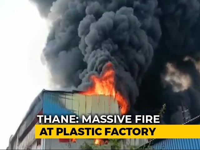 Video : Fire Breaks Out At Plastic Factory In Maharashtra's Thane