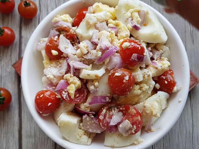 Video : How To Make Egg Tomato Salad   Easy Egg Tomato Recipe Video