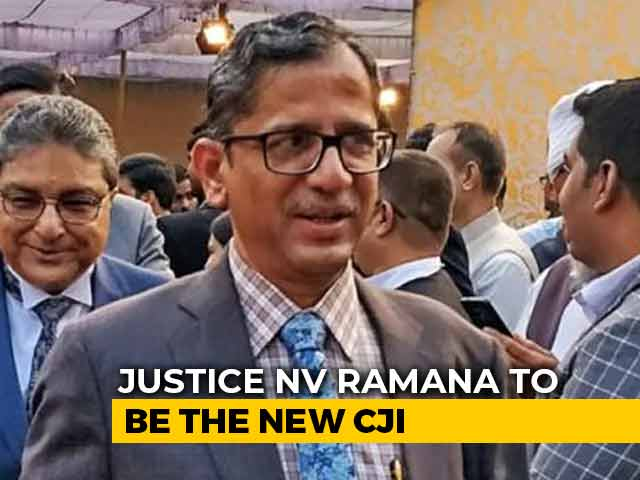 Video : Chief Justice Of India SA Bobde Recommends Justice NV Ramana As Successor