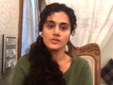 "Video : Taapsee Pannu To NDTV: ""Will Serve Punishment If I've Done Wrong"""