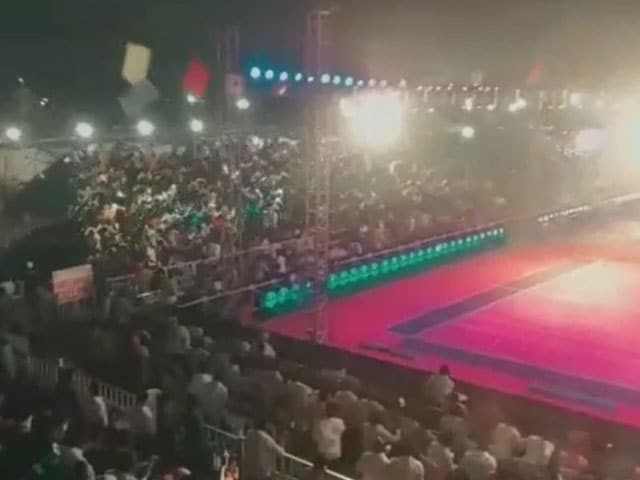 Video : 60 Injured In Accident At Kabaddi Event In Telangana Caught On Camera