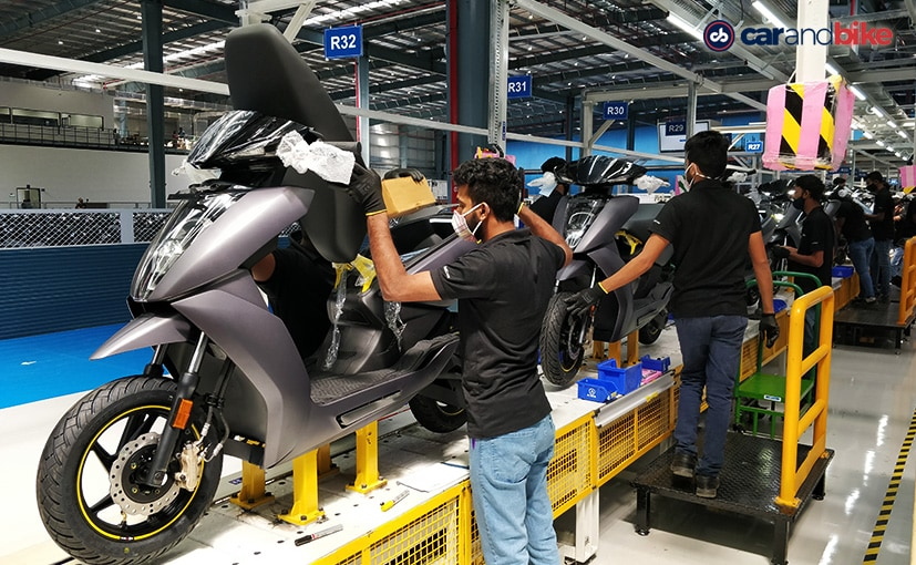 Ather's new facility is spread over 1.20 lakh sq.ft. & can produce over 110,000 units per year