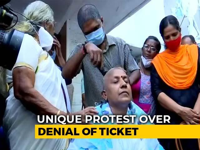 Video : Denied Ticket, Kerala Congress Women's Unit Chief Resigns, Shaves Head