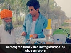 Watch: Comedian Sunil Grover Flaunts His Juice-Making Skills At Local Juice Stall
