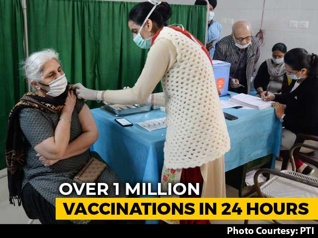 Video : India Vaccinates Over 1 Million People In One Day For The First Time