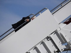 """He Is Fine"": Biden Stumbles Multiple Times As He Boards Air Force One"