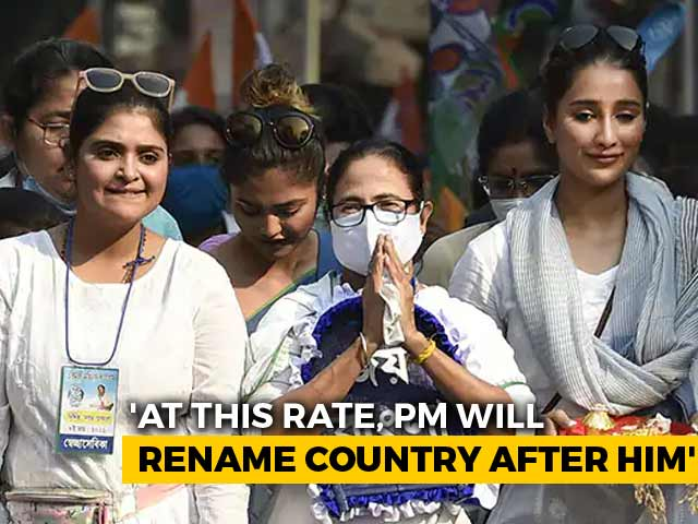 """Video : """"India Will Be Named After PM Modi One Day"""": Mamata Banerjee's Taunt"""