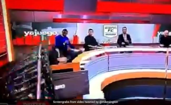 Watch: ESPN Journalist Injured After Piece Of Studio Set Crushes Him - NDTV