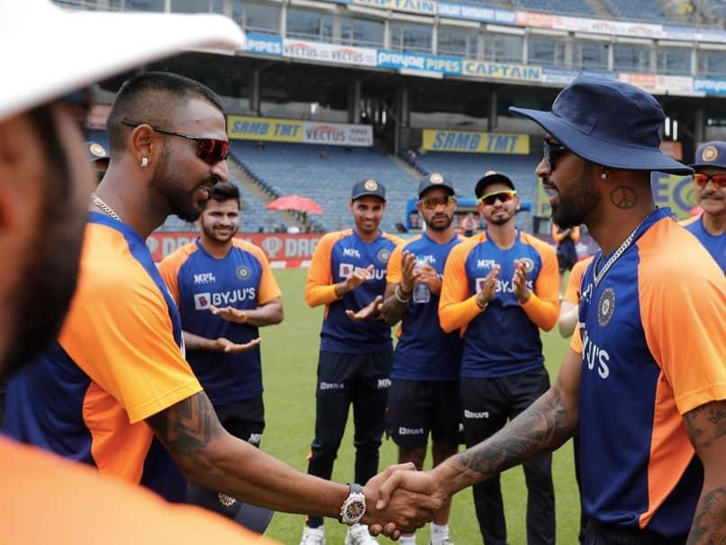 India vs England 1st ODI: Krunal Pandya Gets Cap From Brother Hardik, Makes ODI Debut With Prasidh Krishna. Watch