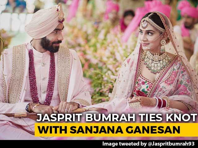 Video : Jasprit Bumrah Marries TV Presenter Sanjana Ganesan, Tweets Photos
