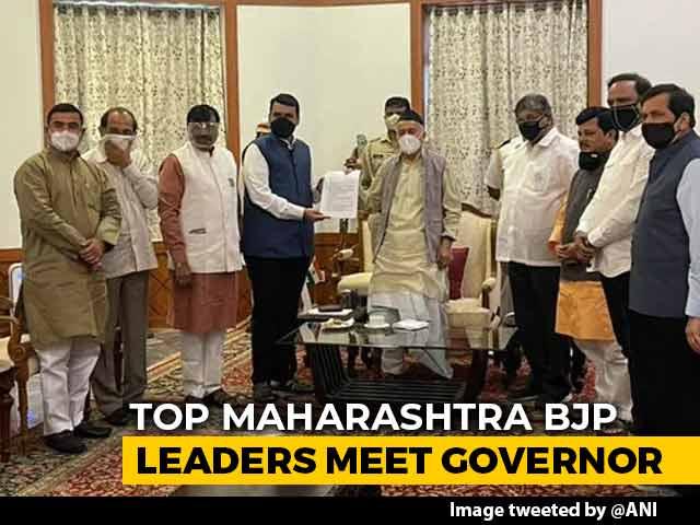 Video : BJP's Devendra Fadnavis Meets Governor Over Maharashtra Home Minister Row