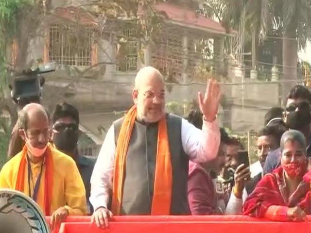 Video : Amit Shah Hold Massive Roadshow In Bengal's Nandigram