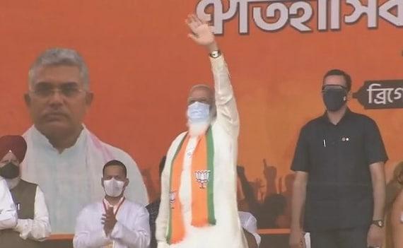PM Modi Targets Mamata Banerjee At Kolkata Rally, Promises 'Sonar Bangla'