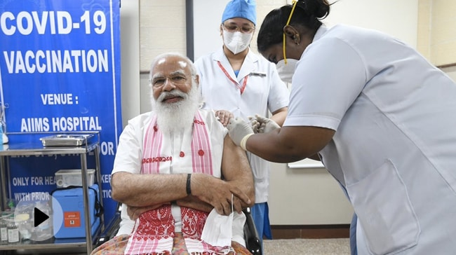 Video | PM Modi's Message To India As He Takes First Shot Of Coronavirus Vaccine