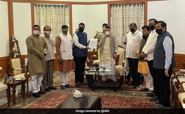 BJP's Devendra Fadnavis Meets Governor Over Maharashtra Home Minister Row