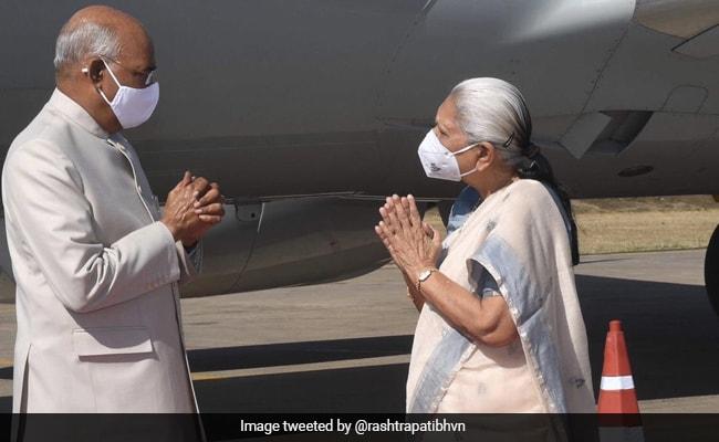 President Kovind Arrives In Jabalpur As Part Of 2-Day Visit To Madhya Pradesh