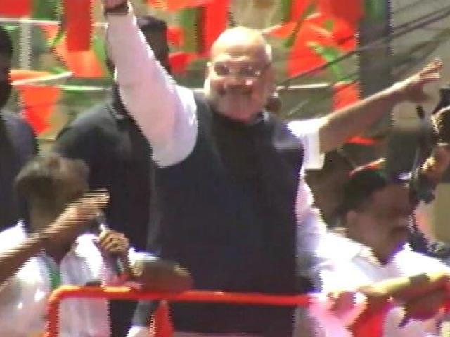 Video : Amit Shah Holds Roadshow In Kanyakumari